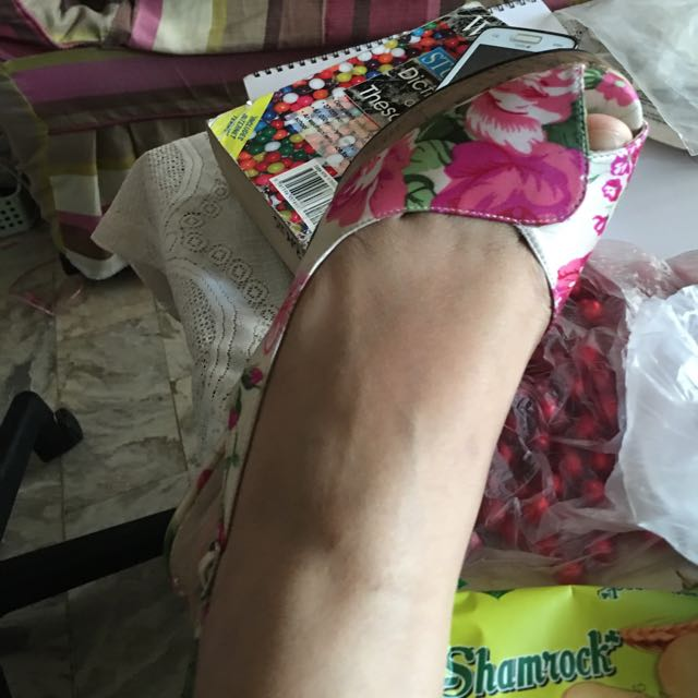 Floral Wedge Shoebox Brand :)