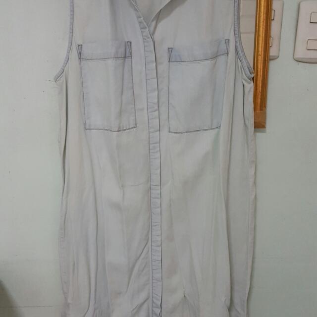 Forever 21 Semi Denim Sleeveless Dress