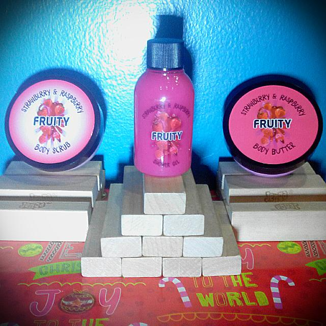 Fruity Star Buy Strawberry And Raspberry Body Butter, Body Scrub, and Shower Gel