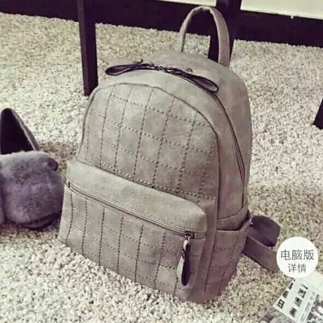 Grey Mini Bagpack