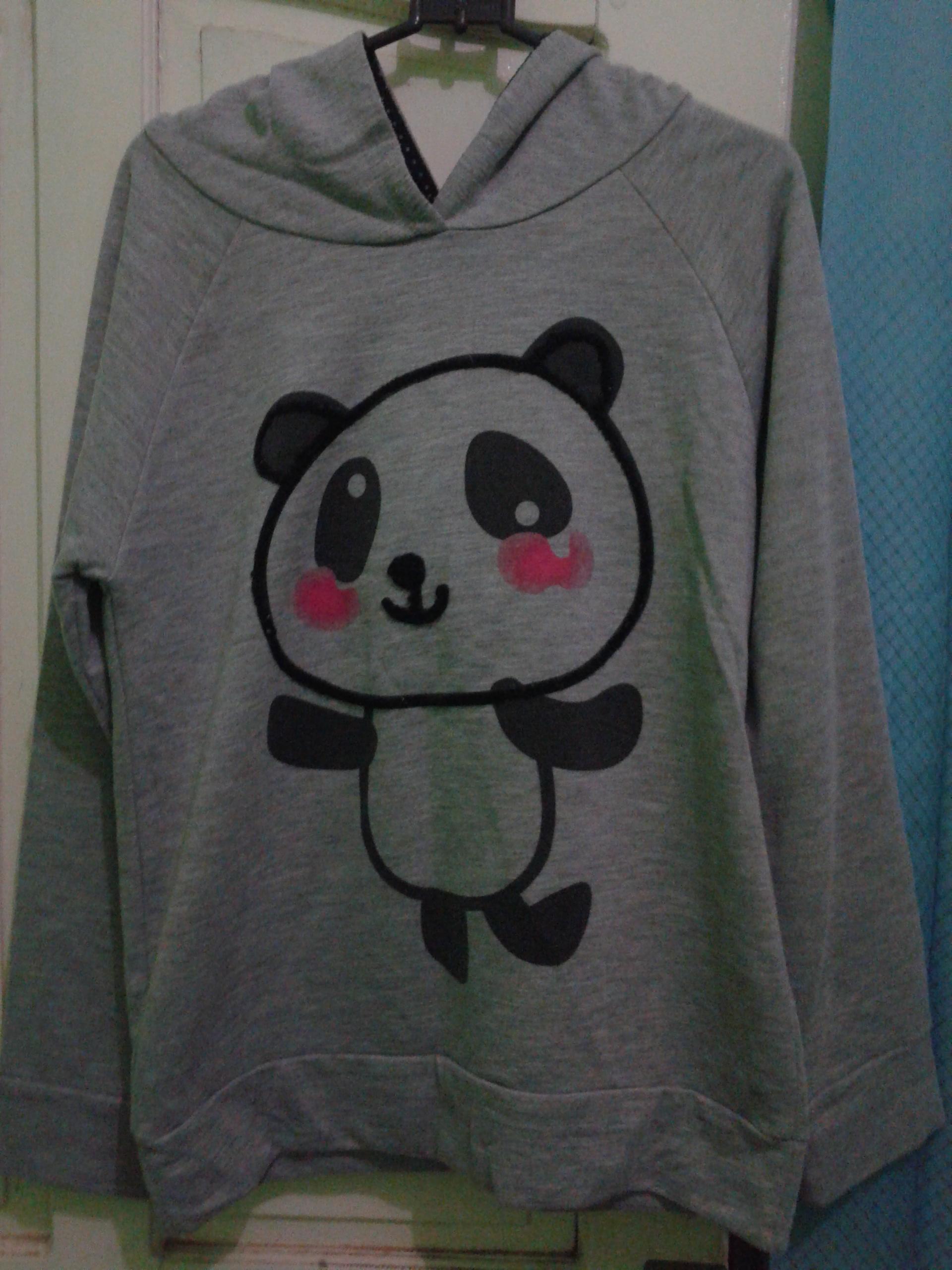 jaket/ sweater nevada panda lucu