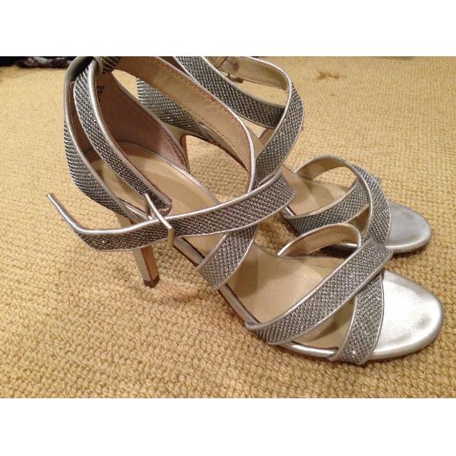 Jane Debster silver heels