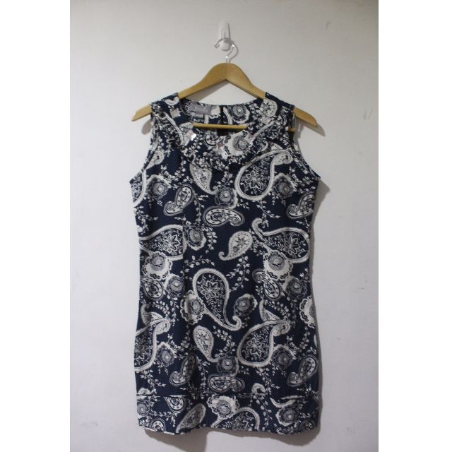 Juana Navy Blue Paisley Dress