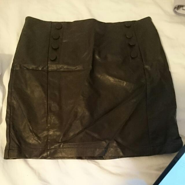 Leather Skirt Size 12