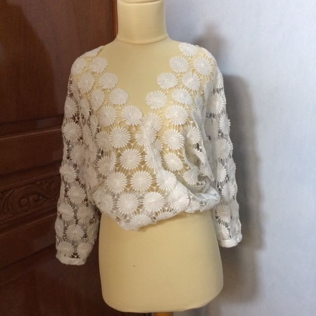 Long Sleeve Flower Outer Top