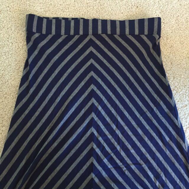 Long Striped Maxi Skirt Size 10