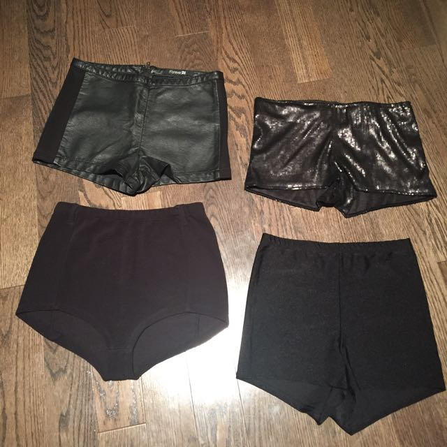Lot Of Black High Waisted Shorts