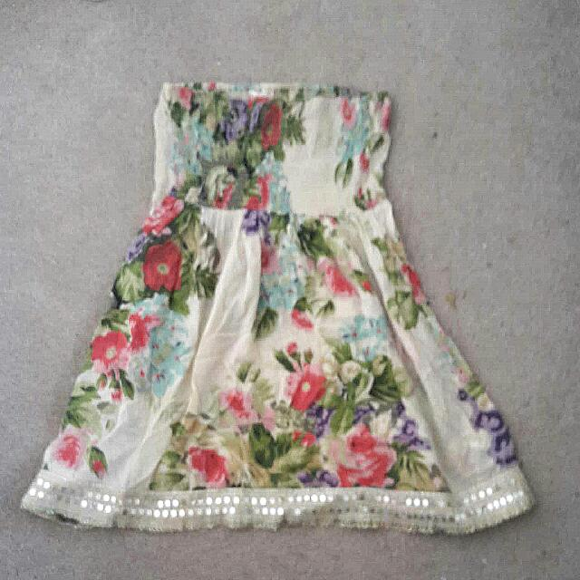 Miss Selfridge Bandeau Summer/beach Dress