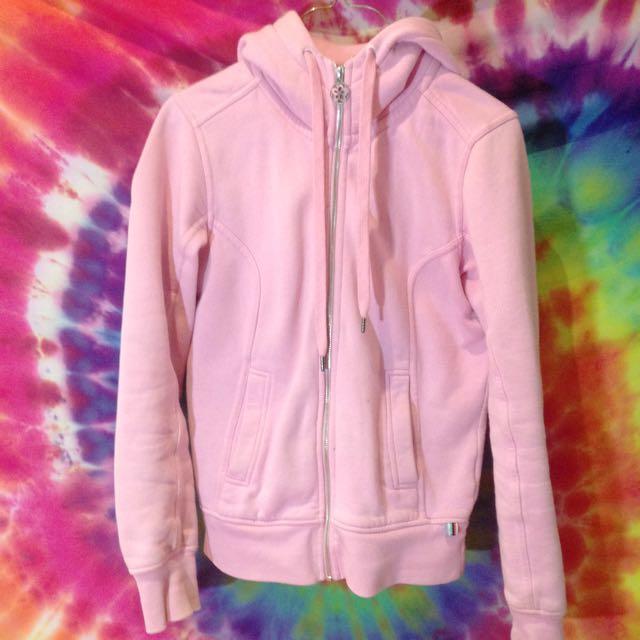 Pastel Pink Zip Up Hoodie