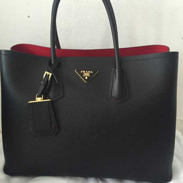 02816e0476 ... where to buy prada double bag luxury bags wallets on carousell 5a310  380ae