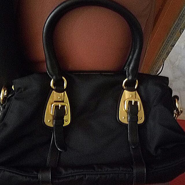 ce99f214ff Prada BN1903 Tessuto Nylon Top Handle Convertible Bag- Black