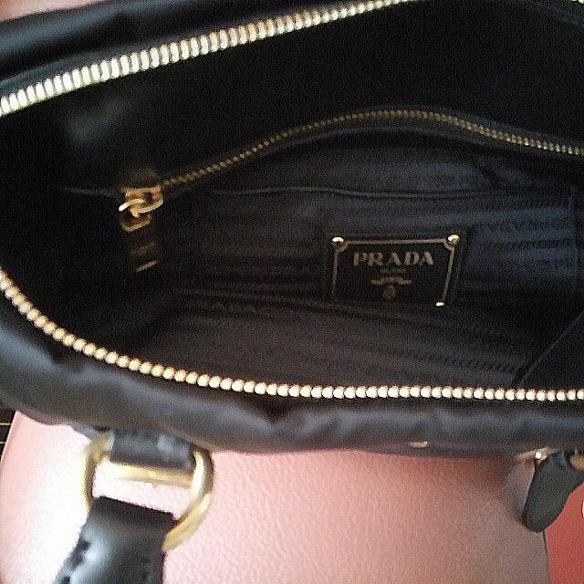 Prada BN1903 Tessuto Nylon Top Handle Convertible Bag- Black cce00e530202f