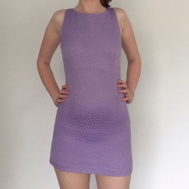 Purple Vintage Short Dress