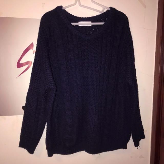 Queen Shop 粗針織毛衣(保留)