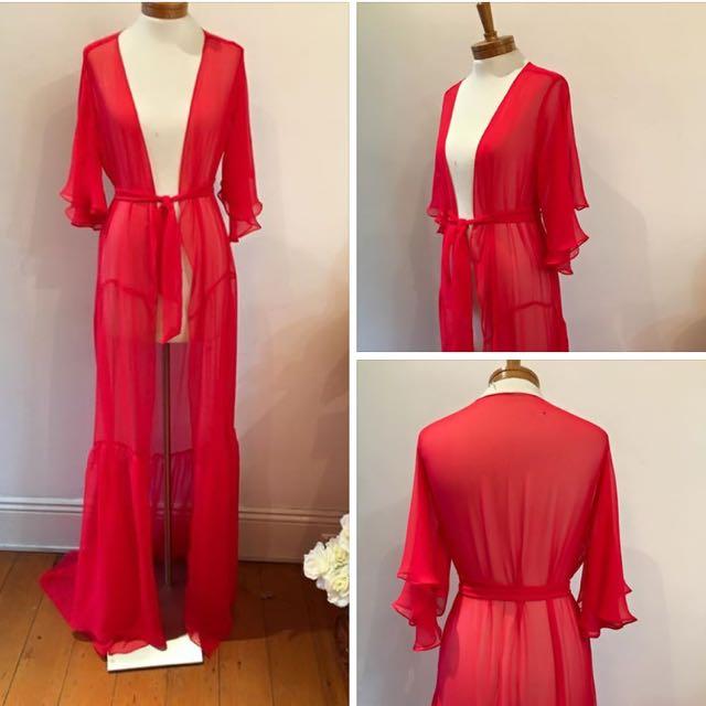 Taylor Made Silk Chiffon Dress