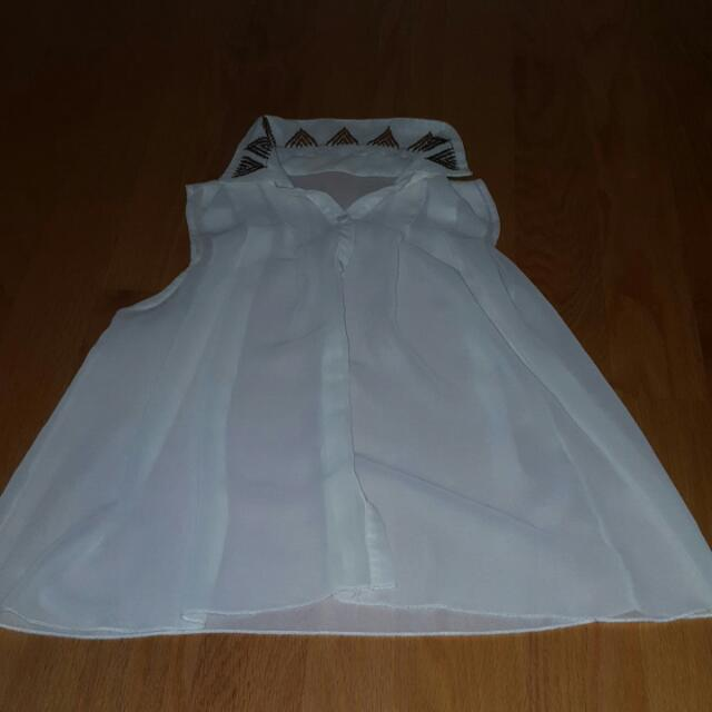 Small/Medium White Blouse
