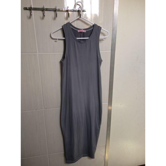 Supre Tight Bodycon Grey Dress