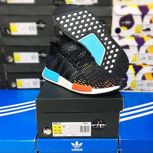 fbc8f7245c7e82 UK 10.5 Adidas Nmd Originals limited release NMD R1 Runners R1   Rainbow  Footlocker European Exclusive - RARE