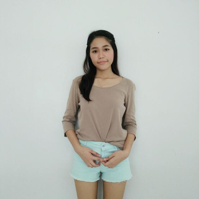 UNIQLO Nude Longsleeve Top