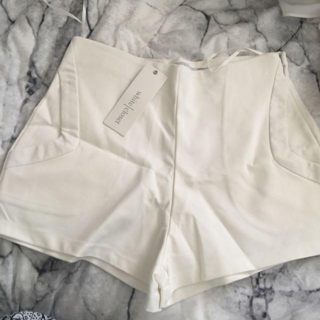 White Shorts By White Closet
