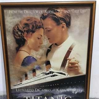 鐵達尼號電影海報 含框