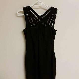 Black le chateau dress
