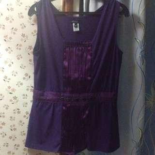 Plus Size Dark Violet Blouse