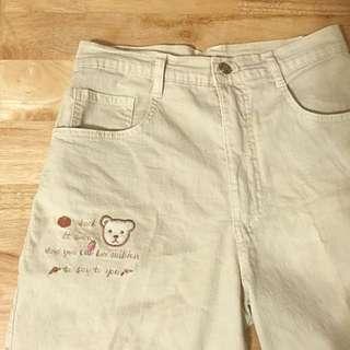 [含運]古著小熊五分褲