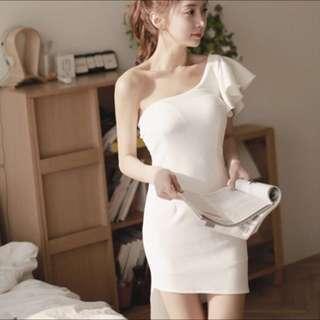 不規則包臀禮服洋裝