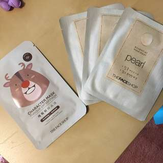 The Face Shop Face Masks - Pearl And Character Mask
