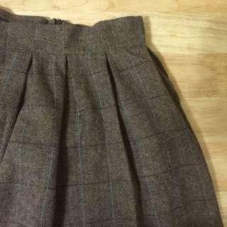 [含運]棕色格子裙