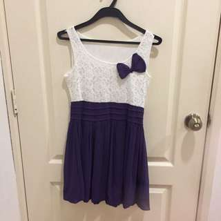 White And Purple Dress