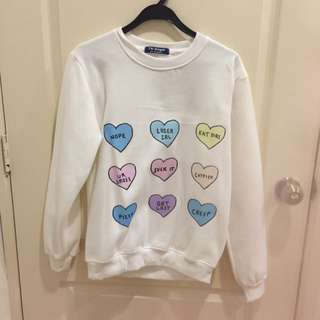 Candy Hearts Pullover