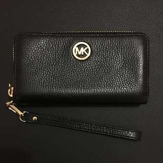Michael Kors Jet Set Wristlet (Leather/Black)