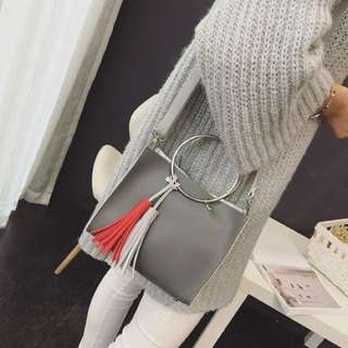 Light Grey Shoulder Bag