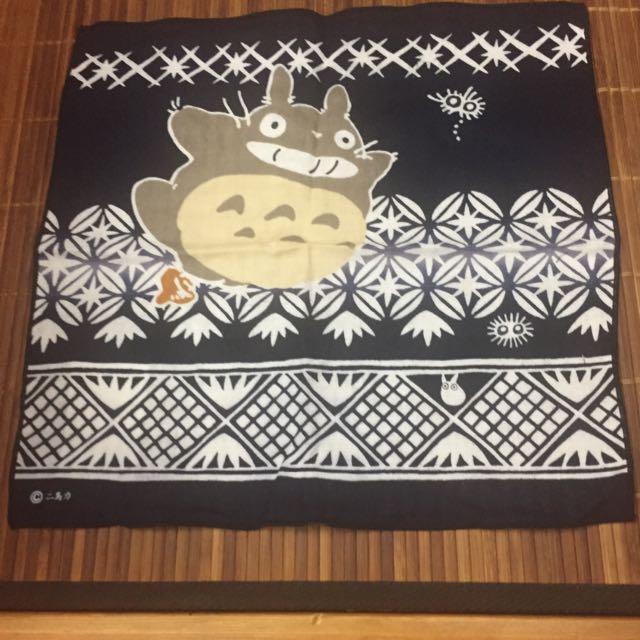 日本製龍貓100%純棉手帕