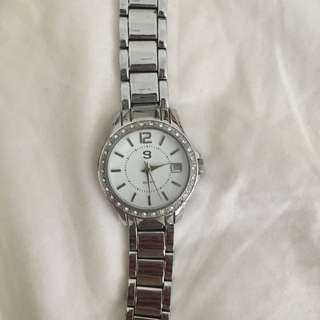 Gold Mark Silver Watch