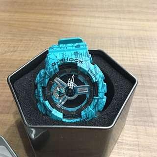 G-SHOCK 刀割綠 手錶 CASIOGA-110SL
