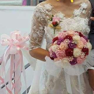 魚尾蕾絲婚紗