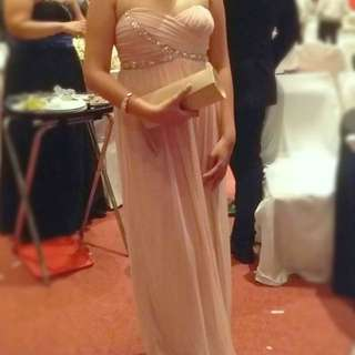 Bridesmaid's Baby Pink Gown