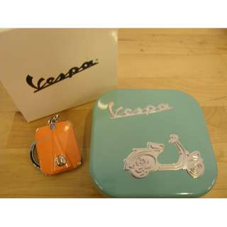 Brand New Original Scooter Vespa Key Chain with metal container
