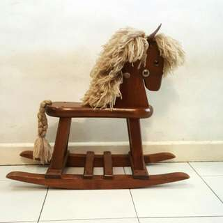 Kids Wooden Rocking Horse (Price Reduce For Fast Sale)
