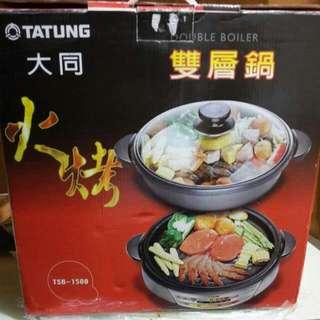 大同 電火鍋 電烤鍋 兩用鍋 火烤雙層鍋