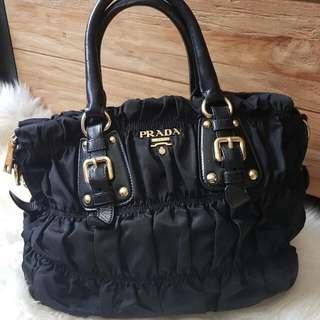 Prada Tote Bag BN1336 Tessuto Gaufre Nero