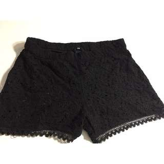 H&M Black Lace Shorts
