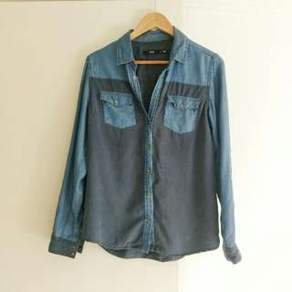 Sportsgirl Oversized Denim Shirt Size 8