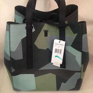 Calvin Klein Green And Black Bag-new