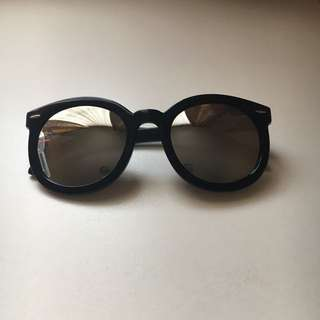 BLACK MIRRORED SUNGLASSES