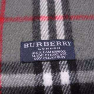 美品◆ 中古BURBERRY LAMBSWOOL 頸巾 100%真貨