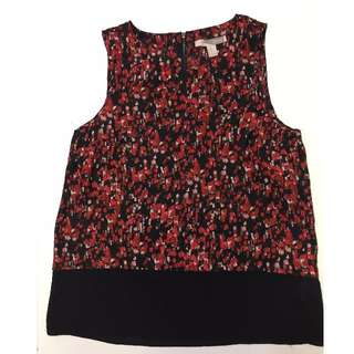 Forever 21 Red & Black sleeveless Blouse